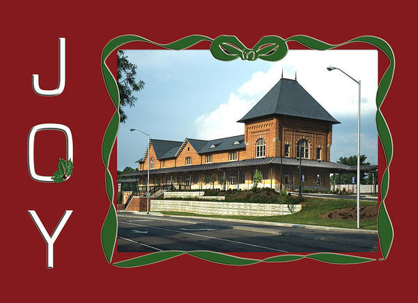 Photograph - Bristol Va Tn Train Station Holiday Card by Denise Beverly