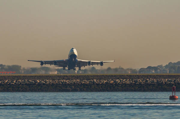 Photograph - British Airlines 747 Take Off 2 by Brian MacLean