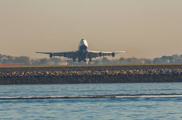 Photograph - British Airlines 747 Take Off  by Brian MacLean