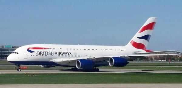 Photograph - British Airways Airbus A380 by Jamie Baldwin