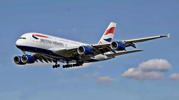 Photograph - British Airways Airbus by Anthony Dezenzio