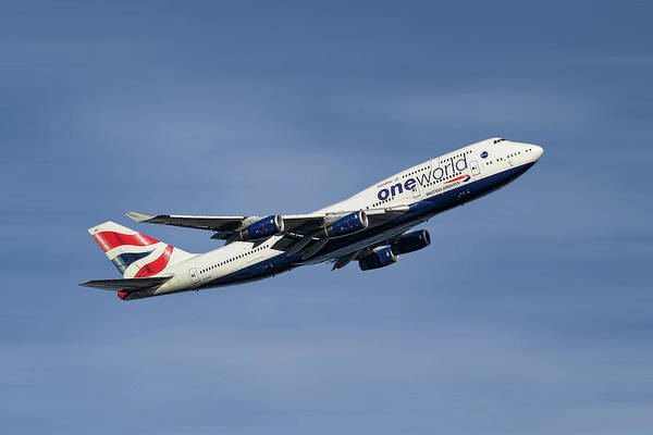 Boeing Mixed Media - British Airways Boeing 747-436 by Smart Aviation