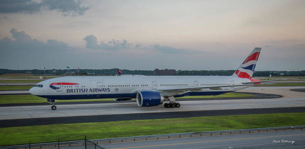 Photograph - British Airways Jet Gstbl Hartsfield Jackson Atlanta International Airport Art by Reid Callaway