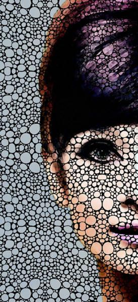 Wall Art - Painting - British Beauty - Audrey Hepburn Tribute by Sharon Cummings