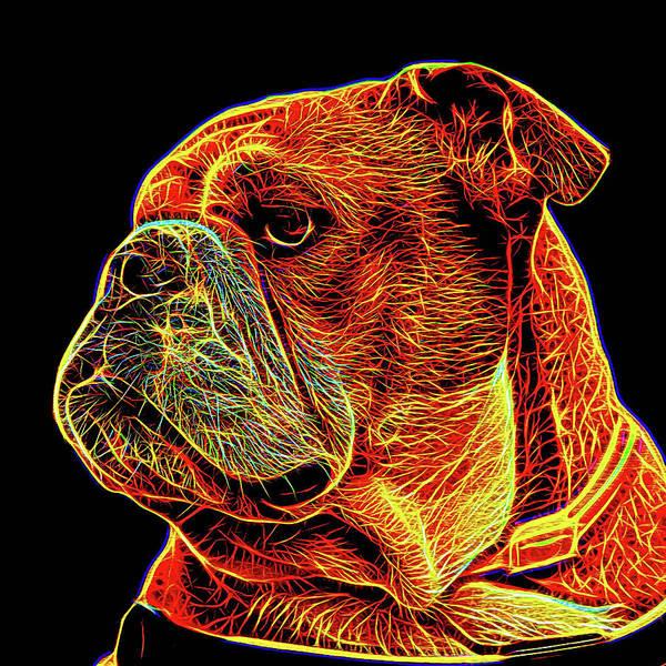 Dod Digital Art - British Bulldog 2 by Alexey Bazhan
