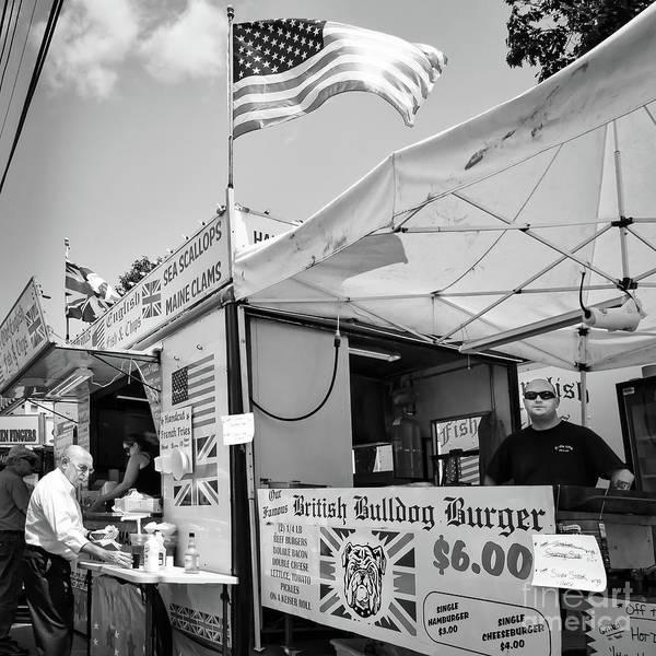 Photograph - British Bulldog Burger, Bath, Maine  -56510-bw by John Bald