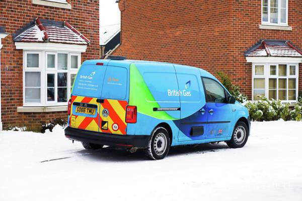 Wall Art - Photograph - British Gas Van by Tom Gowanlock