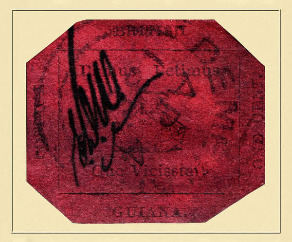 Photograph - British Guiana One Cent Magenta by Andrew Fare