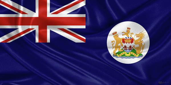 Digital Art - British Hong Kong Flag by Serge Averbukh
