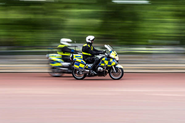 Photograph - British Police Motorcycle by Jacek Wojnarowski