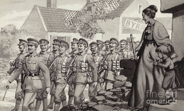 Marching Painting - British Soldiers Marching by Pat Nicolle