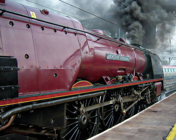 Photograph - British Steam Locomotive by Anthony Dezenzio