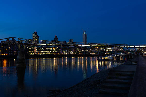 Photograph - British Symbols And Landmarks - Millennium Bridge And Thames River At Low Tide by Georgia Mizuleva
