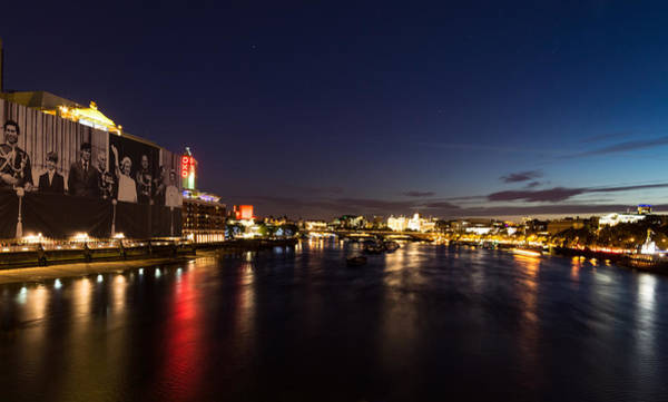 Photograph - British Symbols And Landmarks - Silky River Thames At Night Complete With The Royal Family by Georgia Mizuleva