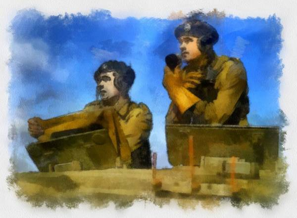 Regiment Wall Art - Painting - British Tank Regiment Wwii by Esoterica Art Agency