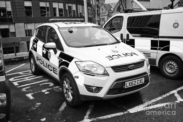 Ford Van Photograph - british transport police ford kuga and vehicles Manchester England UK by Joe Fox