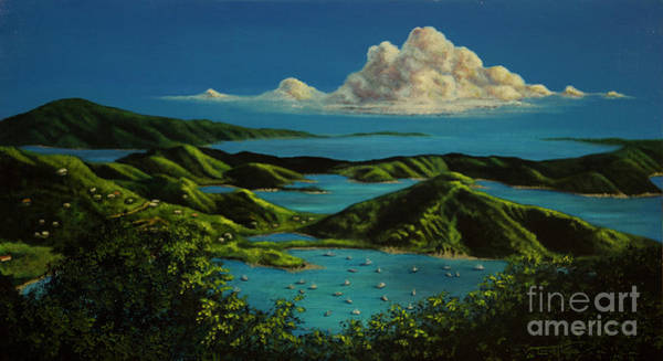 Painting - British Virgin Islands by Laurie Tietjen