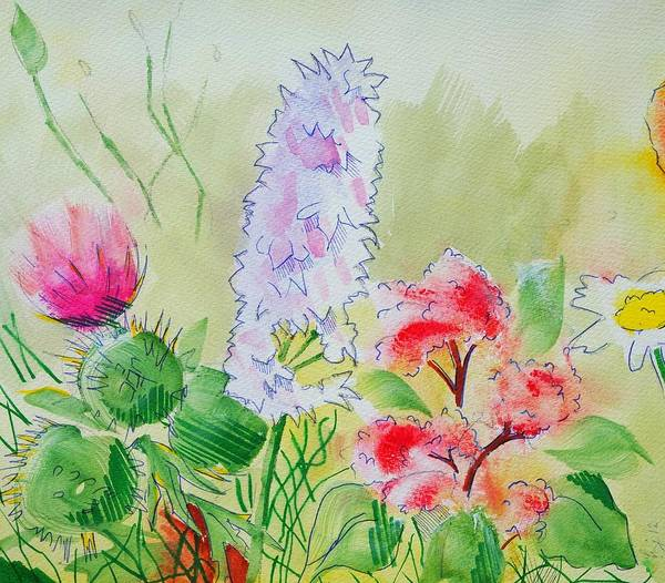 Painting - British Wild Flowers by Mike Jory