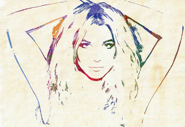 Wall Art - Painting - Britney by Dan Sproul