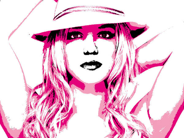 Digital Art - Britney Spears by Brad Scott
