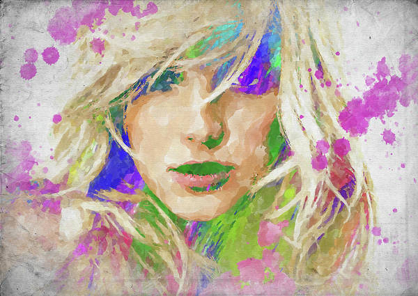 Palette Photograph - Britney Spears Watercolor by Ricky Barnard