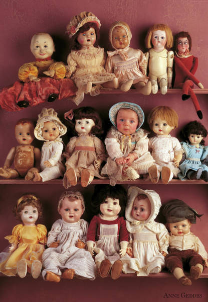 Doll Wall Art - Photograph - Brittany And Antique Dolls by Anne Geddes