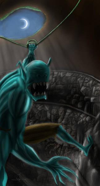 World Of Warcraft Wall Art - Drawing - Broack by Razvan Turc