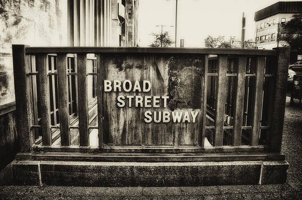 Photograph - Broad Street Subway - Philadelphia by Bill Cannon