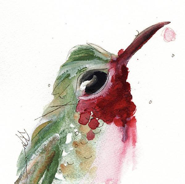 Painting - Broadtail Hummingbird by Dawn Derman