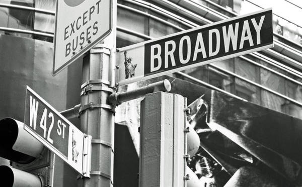 Stop Light Photograph - Broadway And 42nd by Sharla Gentile