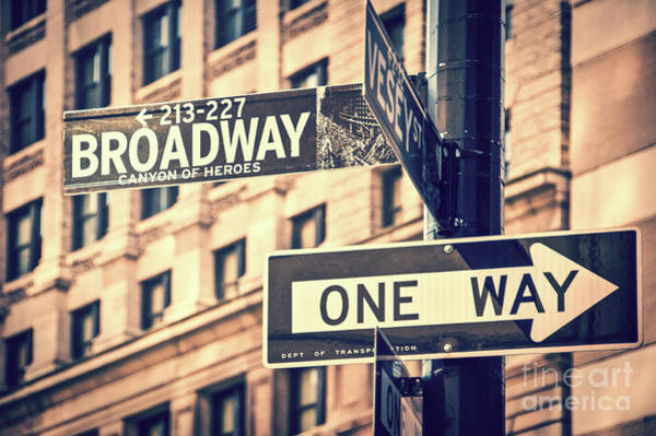 Wall Art - Photograph - Broadway by Delphimages Photo Creations