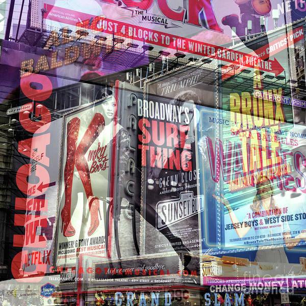 Photograph - Broadway Double Exposure by John Rizzuto