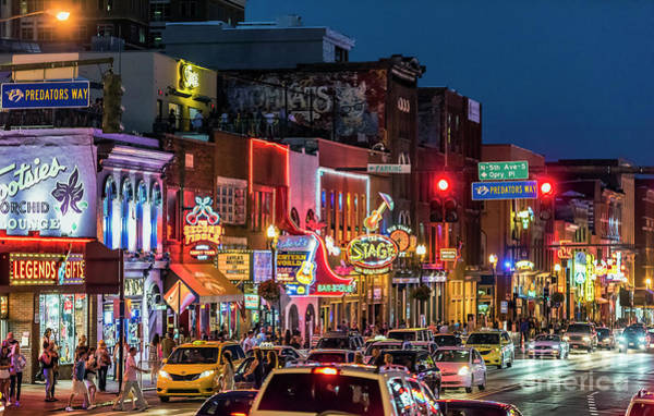 Nashville Photograph - Broadway Nashville by John Greim