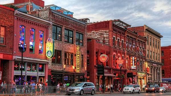 Photograph - Broadway Street Nashville Tennessee by Carol Montoya