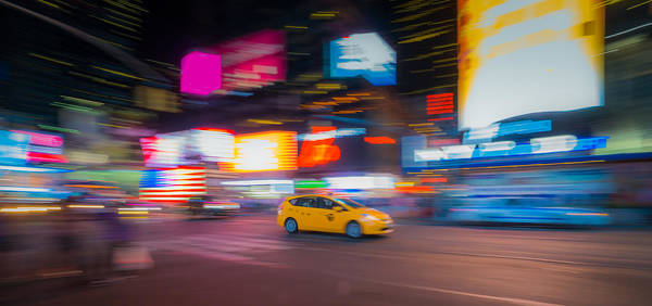 Wall Art - Photograph - Broadway Taxi by June Marie Sobrito