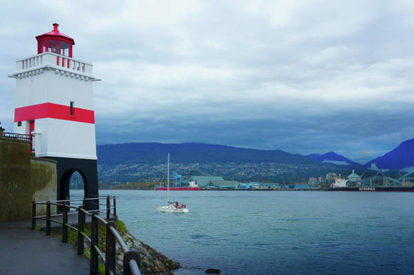 Wall Art - Photograph - Brockton Point Lighthouse In Stanley Park by Art Spectrum