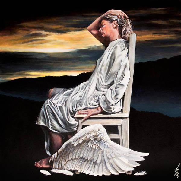 Clovis Painting - Broken Angel by Clovis Rusk