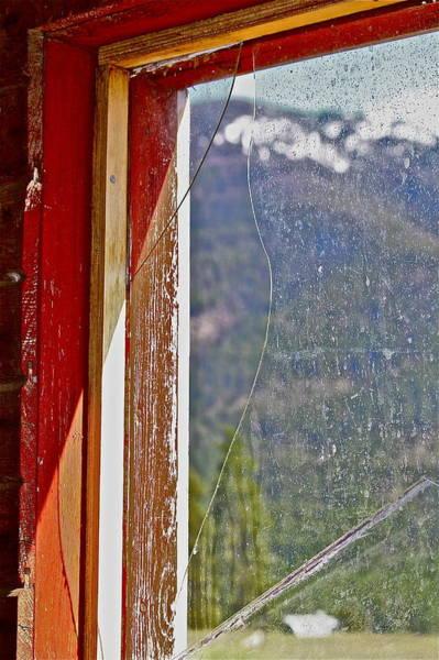Photograph - Broken Barn Window by Diana Hatcher