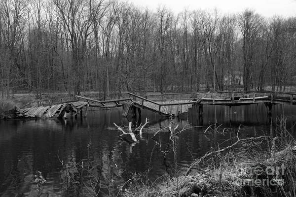 Troll Photograph - Broken Bridges In Black And White by Paul Ward
