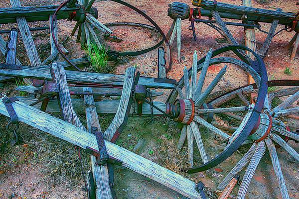 Wall Art - Photograph - Broken Down Wagon by Garry Gay