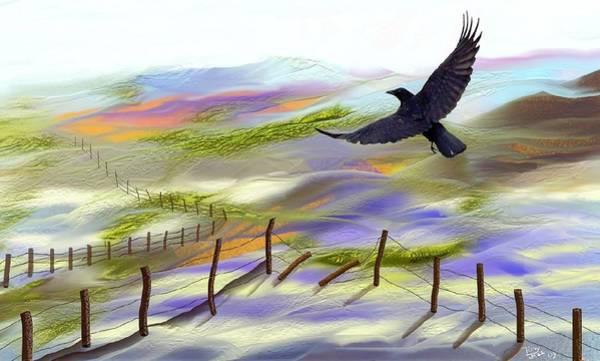 Digital Art - Broken Fence by Tony Rodriguez