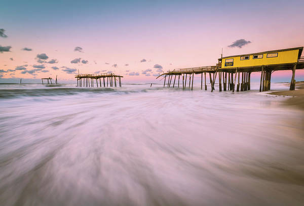Photograph - Broken Fishing Pier At Frisco In Obx by Ranjay Mitra