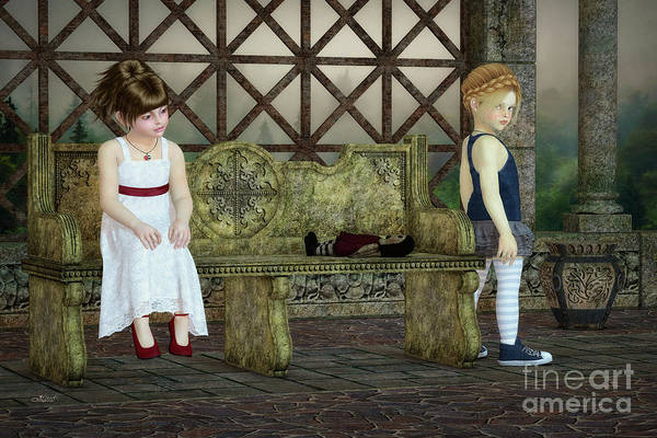 Digital Art - Broken Friendship by Jutta Maria Pusl