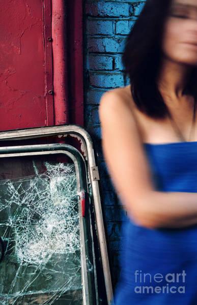 Photograph - Broken Glass #0136 by Andrey Godyaykin