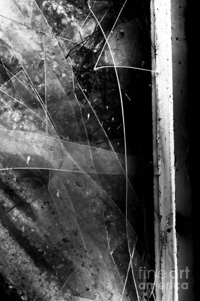 Close-up Photograph - Broken Glass Window by Jorgo Photography - Wall Art Gallery