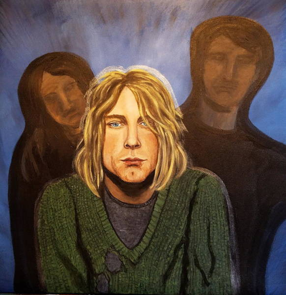 Dave Grohl Painting - Broken Heart Shaped Box by Dream In Color
