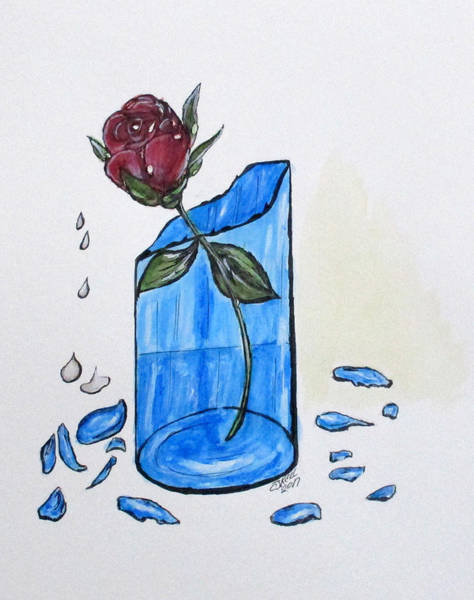 Painting - Broken Promise Rose by Clyde J Kell