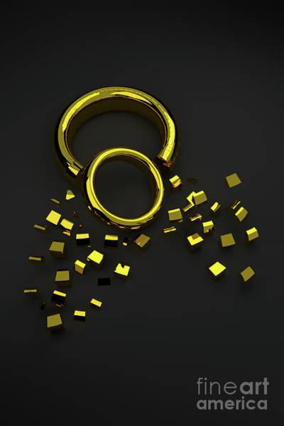 Digital Art - Broken Ring 002 by Clayton Bastiani