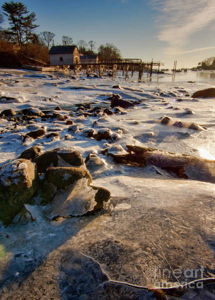 Photograph - Broken Sheets Of Ice, New Harbor, Bristol, Maine  -81407-81408 by John Bald