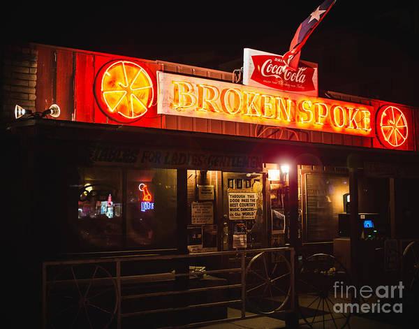 Honky Tonk Photograph - Broken Spoke Honky Tonk by Sonja Quintero
